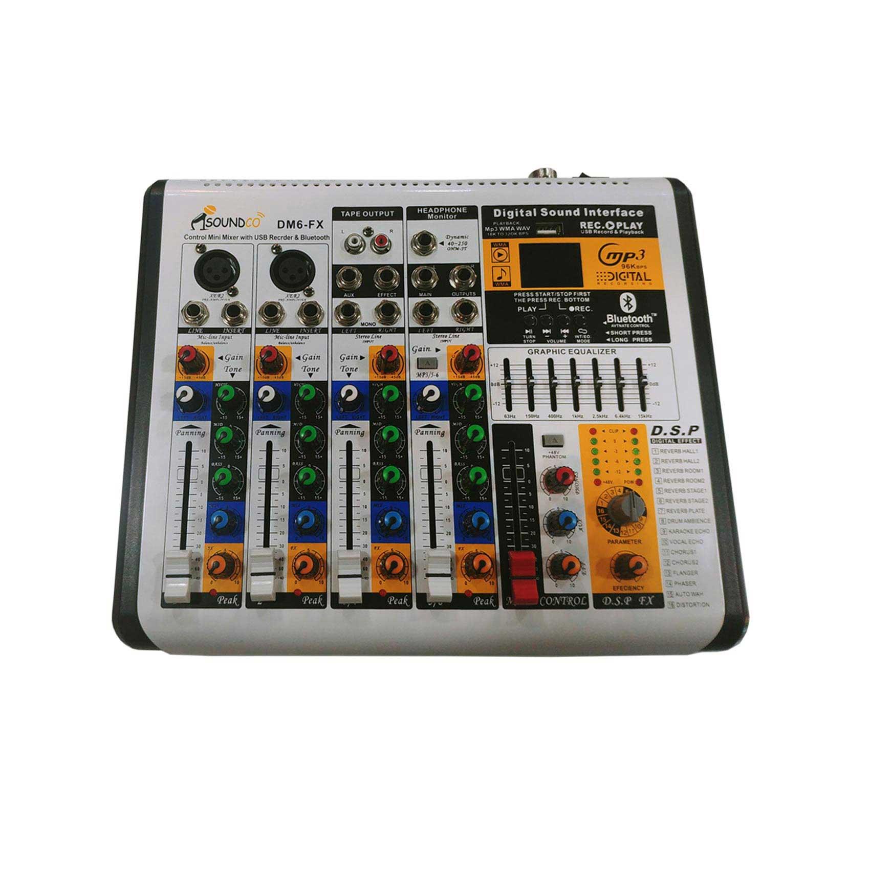 DM6-FX Audio Mixer