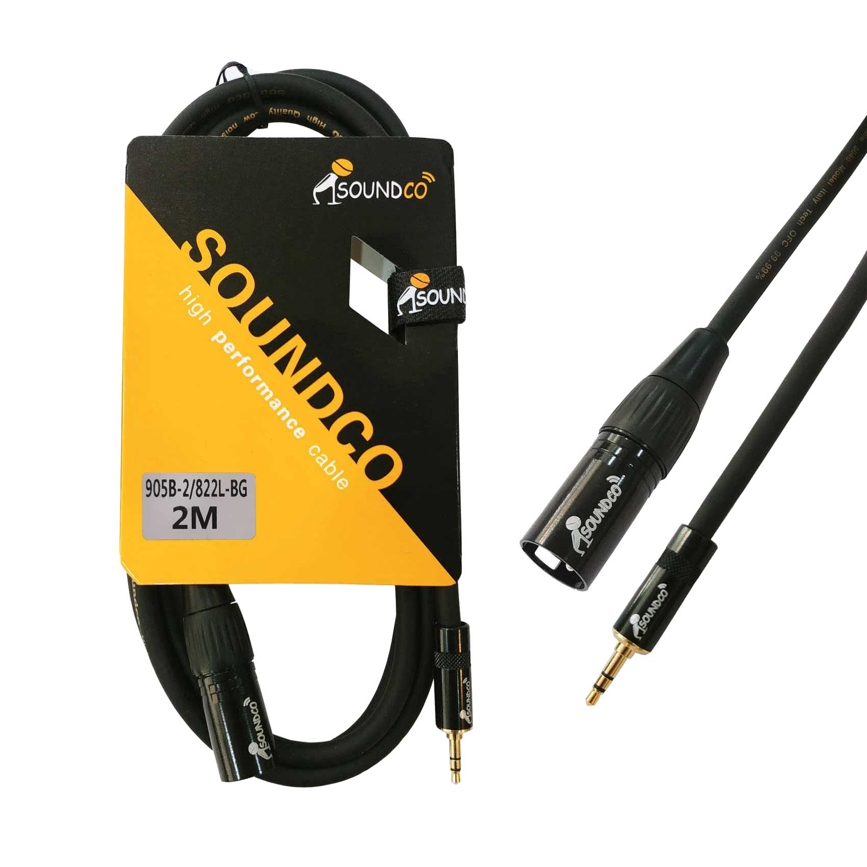 XLR to mini TRS 2m cable